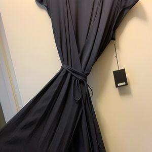 Reformation Dress - indigo wrap size L